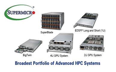 Supermicro showcases the industry's leading line of advanced HPC high-performance computing servers
